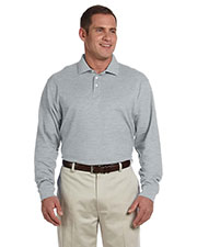 Men's Pima Piqué Long-Sleeve Polo at GotApparel