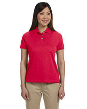 Devon & Jones Classic D140SW Women Solid Perfect Pima Interlock Polo at GotApparel