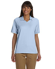 Devon & Jones Classic D140W Women Tipped Perfect Pima Interlock Polo at GotApparel