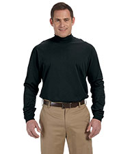 Devon & Jones Classic D420 Unisex Sueded Cotton Jersey Mock-Turtleneck at GotApparel