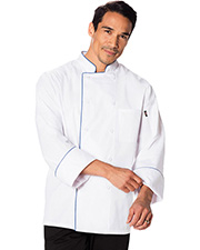 Dickies Chef DC411 Unisex Cool Breeze Chef Coat With at GotApparel