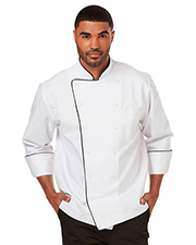 Dickies Chef DC42B Unisex Executive Chef Coat With Piping at GotApparel