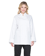 Dickies Chef DC44 Unisex Classic Cloth Covered Button Coat at GotApparel