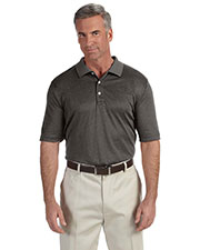 Devon & Jones Classic DG210 Men Pima-Tech  Jet Pique Heather Polo at GotApparel