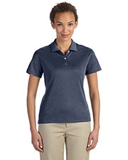 Devon & Jones Classic DG210W Women Pima-Tech  Jet Pique Heather Polo at GotApparel