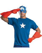 Halloween Costumes DG23435 Men Captain America Kit Adult at GotApparel