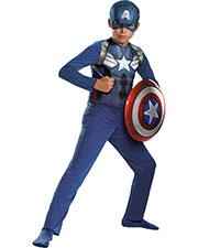 Halloween Costumes DG73360L Boys Captain America Basc Child 4-6 at GotApparel
