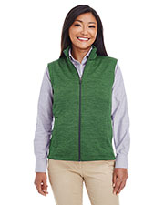 Ladies' Newbury Mélange Fleece Vest at GotApparel