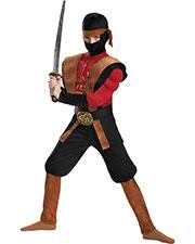 Halloween Costumes DG85342G Boys Ninja Warrior Muscle 10-12 at GotApparel