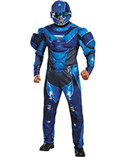 Halloween Costumes DG97561C Men Blue Spartan Muscl 50-52 at GotApparel