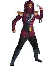 Halloween Costumes DG97859L Men Red Fire Ninja Muscle Chld 4-6 at GotApparel