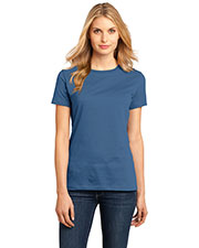 District Made DM104L Women Perfect Weight Crew Tee at GotApparel