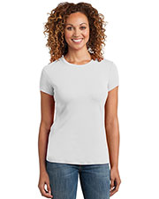 District Made DM400 Women Mini Rib Crew Tee at GotApparel