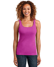 District Made DM403 Women Mini Rib Racerback Tank at GotApparel