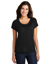 District Made DM412  ®  Ladies Drapey Dolman Tee. at GotApparel