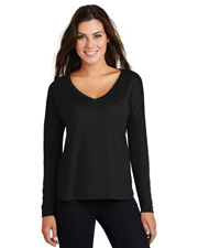 District Made DM413  ®  Ladies Drapey Long Sleeve Tee. at GotApparel