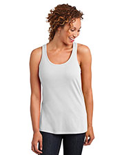 District Made DM420 Women Solid Gathered Racerback Tank at GotApparel