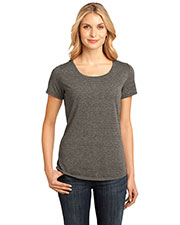 District Made DM441 Women  Tri blend Lace Tee at GotApparel
