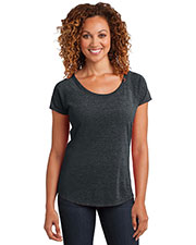 District Made DM443 Women Tri blend Scoop Tee at GotApparel