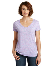 District Made DM465 Women   Cosmic Relaxed V-Neck Tee at GotApparel