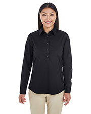Devon & Jones Classic DP610W Women Perfect Fit  Half-Placket Tunic Top at GotApparel