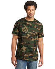 District Made DT104C Men  Perfect Weight Camo Crew Tee at GotApparel