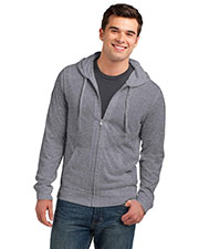 District DT1100 Men Lightweight Jersey Full-Zip Hoodie at GotApparel
