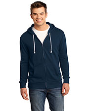 District DT190 Men Core Fleece Full-Zip Hoodie at GotApparel