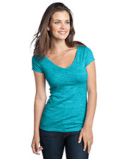 District DT2001 Women Extreme Heather V-Neck Tee at GotApparel