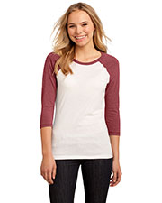 District DT228 Women 50/50 3/4-Sleeve Raglan Tee at GotApparel