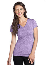 District DT242V Women Tri-Blend V-Neck Tee at GotApparel
