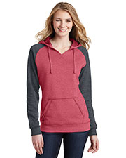 District DT296 Women Lightweight Fleece Raglan Hoodie at GotApparel
