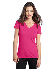District DT5501 Women The V-Neck Concert Tee at GotApparel