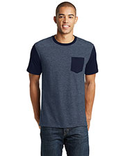District DT6000SP Adult Very Important Tee® with Contrast Sleeves and Pocket at GotApparel