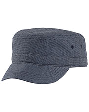 District DT619 Men Houndstooth Military Hat at GotApparel