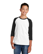 District Youth DT6210Y Boys Very Important Tee 3/4-Sleeve Raglan at GotApparel