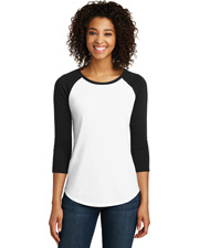 District Dt6211    Juniors Very Important Tee  3/4-Sleeve Raglan at GotApparel