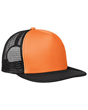 District DT624 Men Flat Bill Snapback Trucker Cap at GotApparel