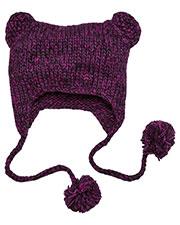 District DT626 Men Hand Knit CatEared Beanie at GotApparel