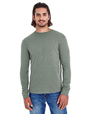 Econscious EC1588  Men's Heather Sueded Long Sleeve Jersey at GotApparel