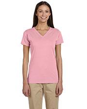 Custom Embroidered Econscious EC3052 Women 4.4 Oz. 100% Organic Cotton Short-Sleeve V-Neck T-Shirt at GotApparel