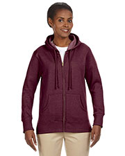 Econscious EC4580 Women 7 oz. Organic/Recycled Heathered Fleece Full Zip Hood at GotApparel