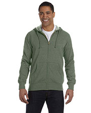 Econscious EC5680 Men 7 oz. Organic/Recycled Heathered Full Zip Hood at GotApparel