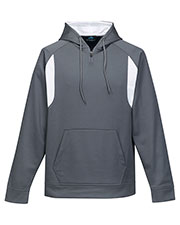 TRI-MOUNTAIN PERFORMANCE F7332 Men Stryker Polyester Birdeye Hooded Pullover at GotApparel