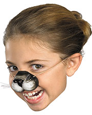 Halloween Costumes FA132  NOSE BLACK CAT W ELASTIC at GotApparel