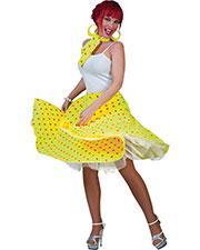 Halloween Costumes FF750846 Women Sock Hop Skirt Yellow Or at GotApparel
