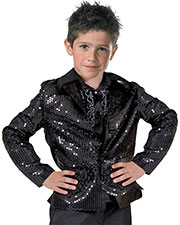 DISCO JACKET CHILD BLACK LARGE at GotApparel