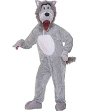 Halloween Costumes FM67718 Men Wolf Grey Mascot at GotApparel