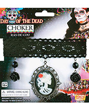 Morris Costumes FM74676 Day Of Dead Choker at GotApparel