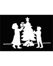 Halloween Costumes FP94 Men Stencil Christmas Tree Family at GotApparel